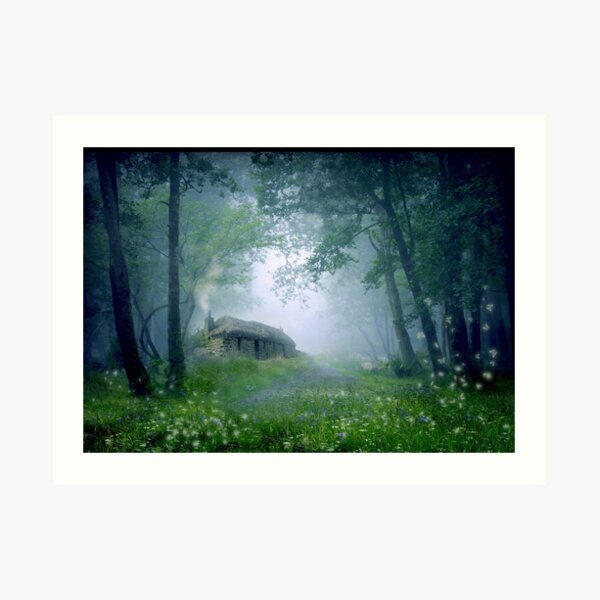 The Cottage in the Woods Art Print