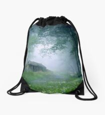 The Cottage in the Woods Drawstring Bag