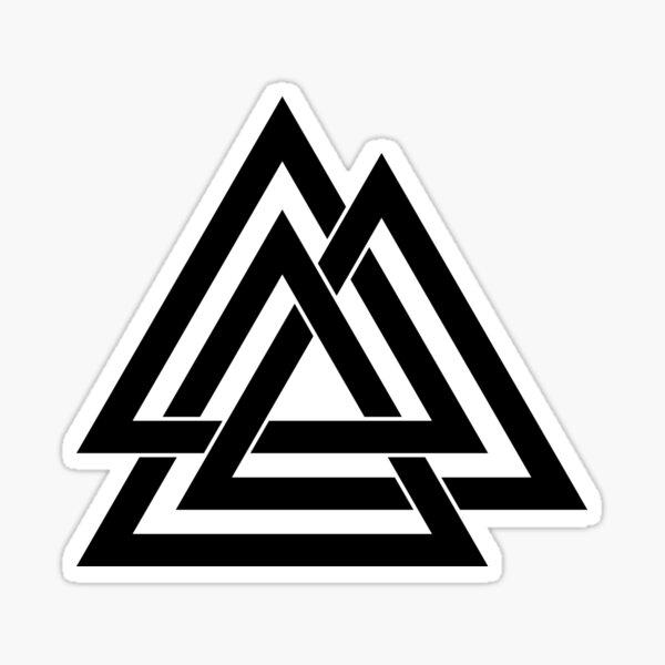 three triangles Sticker