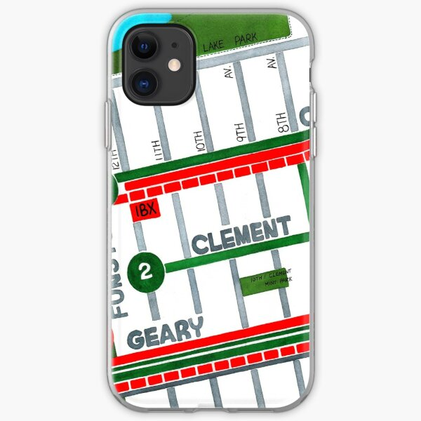 San Francisco map - Inner Richmond iPhone Soft Case