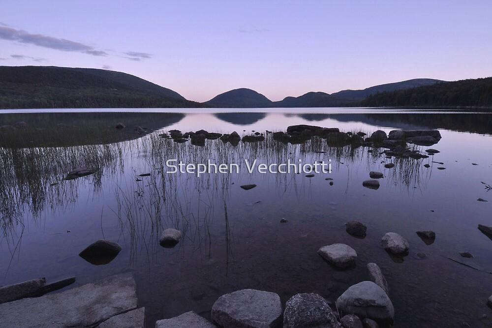 Eagle Lake Reflections - Acadia by Stephen Vecchiotti