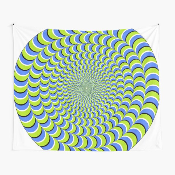 #Illusion, #pattern, #vortex, #hypnosis, abstract, design, twist, art, illustration, psychedelic Tapestry