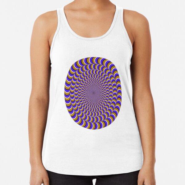 #Illusion, #pattern, #vortex, #hypnosis, abstract, design, twist, art, illustration, psychedelic Racerback Tank Top
