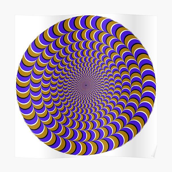 #Illusion, #pattern, #vortex, #hypnosis, abstract, design, twist, art, illustration, psychedelic Poster