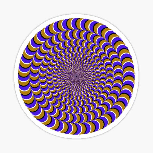#Illusion, #pattern, #vortex, #hypnosis, abstract, design, twist, art, illustration, psychedelic Sticker