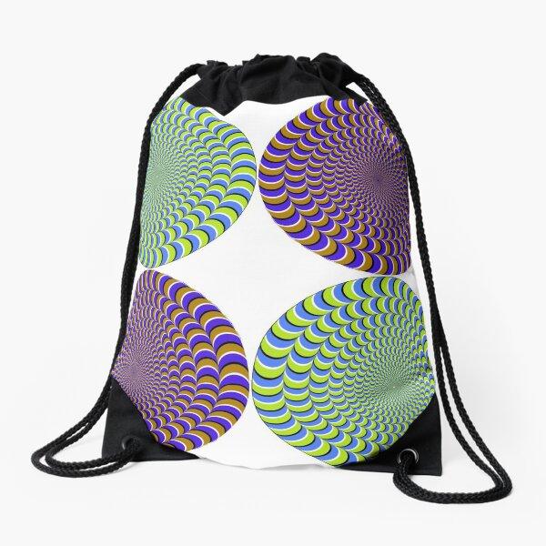 Optical #Art: Moving #Pattern #Illusion - #OpArt  Drawstring Bag