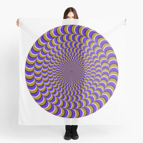 Optical #Art: Moving #Pattern #Illusion - #OpArt  Scarf