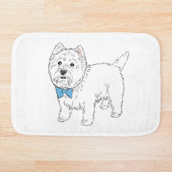 My little Westie  (please message me BEFORE you order to add your own name) Bath Mat