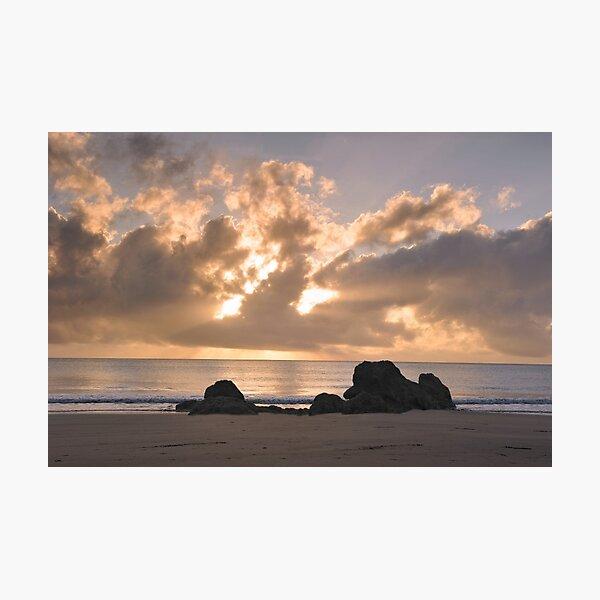 Sunrise surprise Etty bay Photographic Print