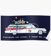 Ecto 1 - Ghostbusters Pixel Art Poster