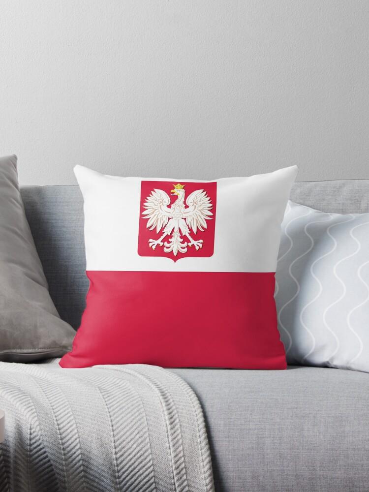 Polish Flag with Coat of Arms by PolishArt