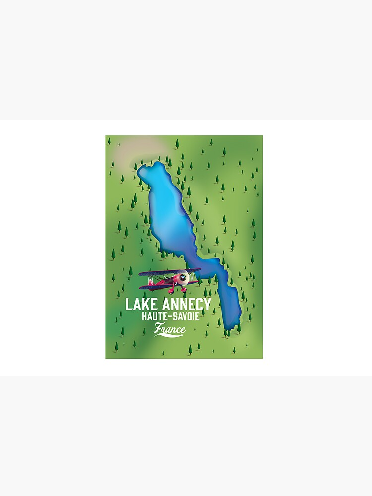 Lake Annecy Haute-Savoie France map by vectorwebstore