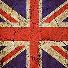 'Cracked Britannia' Union Jack Flag by Steve Crompton