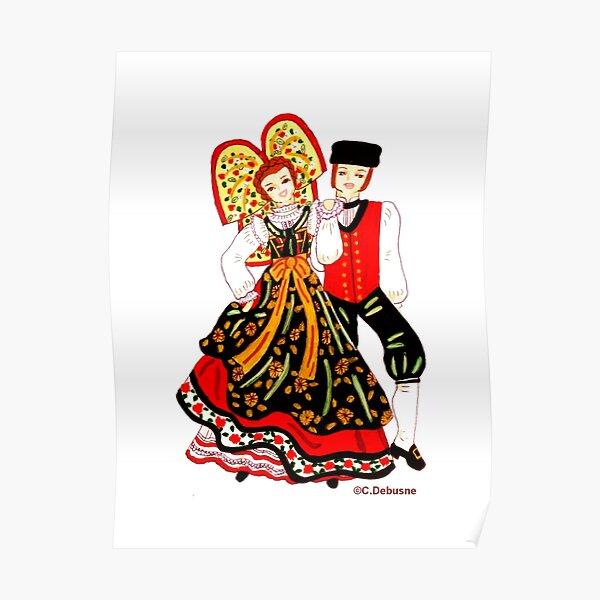 Couple d'Alsace, France Poster