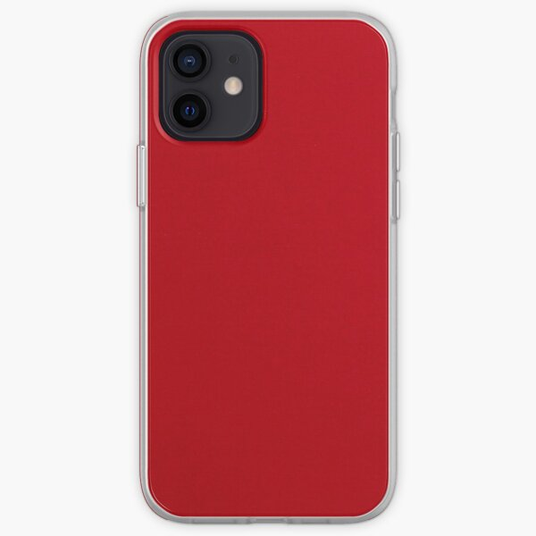 Deep Plain Red Background  iPhone Soft Case