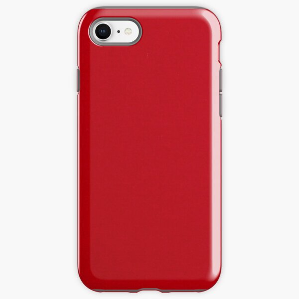 Deep Plain Red Background  iPhone Tough Case