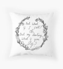 Peter Pan - What If You Fly? Throw Pillow