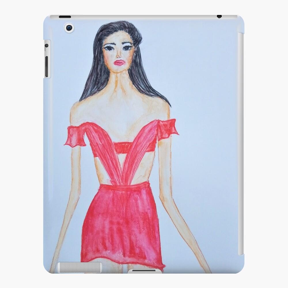 FASHION LADY IN RED  iPad Case & Skin