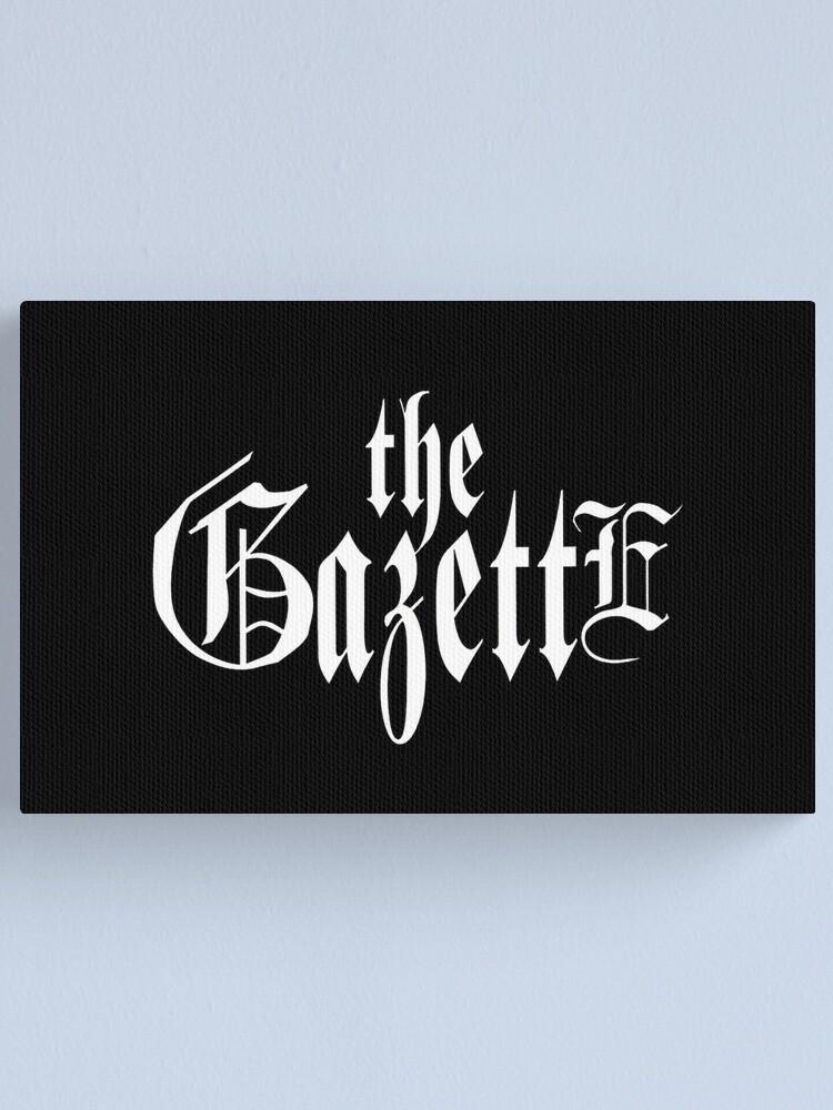 Alternate view of THE GAZETTE - LOGO BLACK Canvas Print