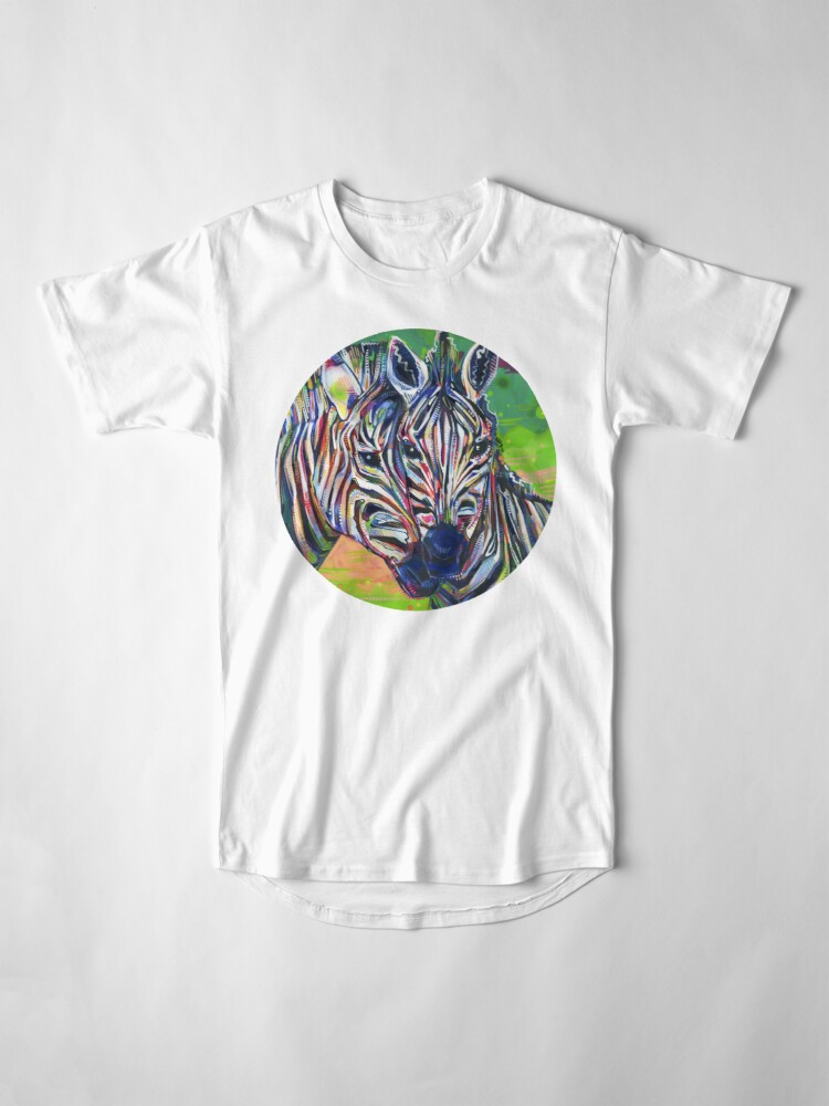 Alternate view of Zebras painting - 2012 Long T-Shirt