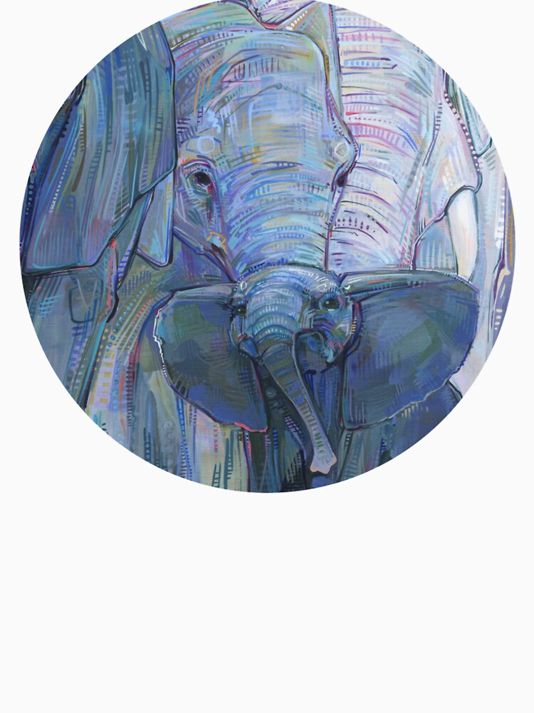 African elephants painting - 2012 by gwennpaints