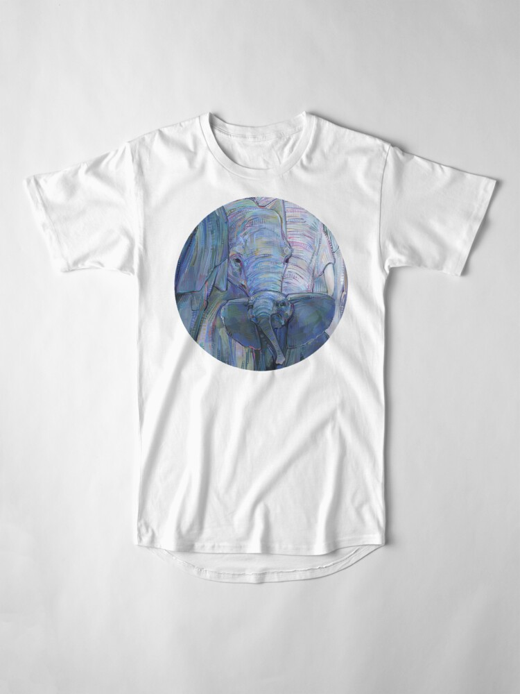 Alternate view of African elephants painting - 2012 Long T-Shirt
