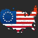 Betsy Ross USA Flag by zoljo