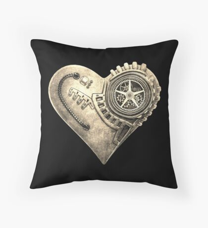 Steampunk Vintage Clockwork Heart Steampunk T-Shirts Floor Pillow