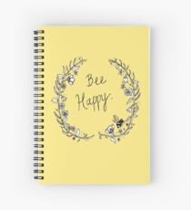Bee Happy Spiral Notebook
