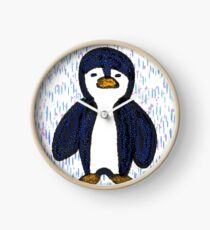 Batik Sad Penguin Clock