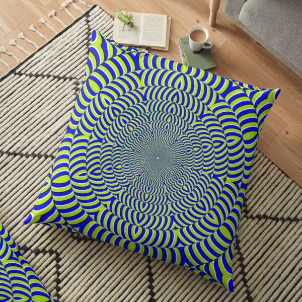 Optical #Art: Moving #Pattern #Illusion - #OpArt  Floor Pillow