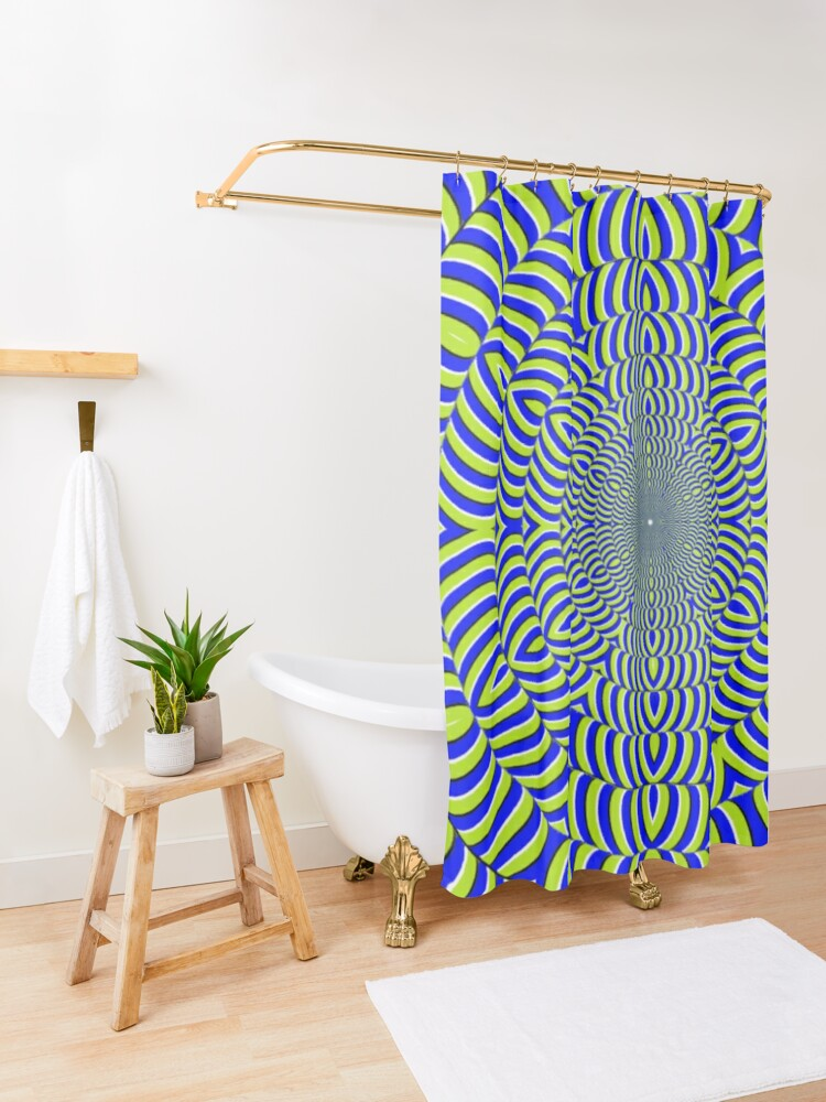 Alternate view of Optical #Art: Moving #Pattern #Illusion - #OpArt  Shower Curtain