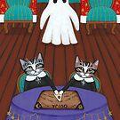 Ouija Board Spooky Cats by Ryan Conners