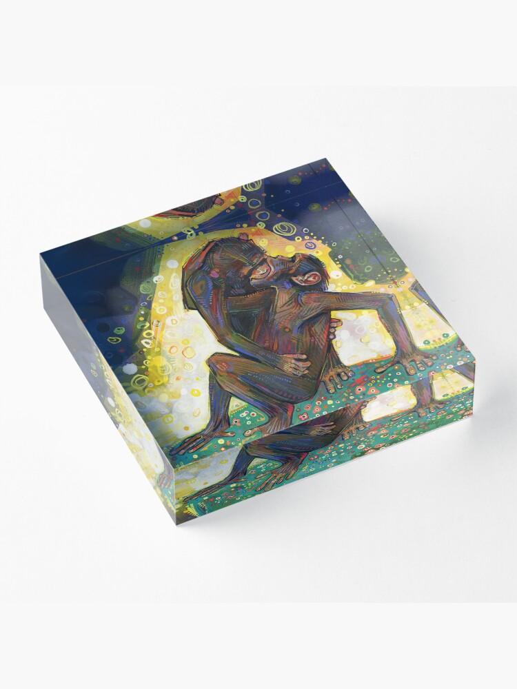 Alternate view of Bonobos painting - 2012 Acrylic Block