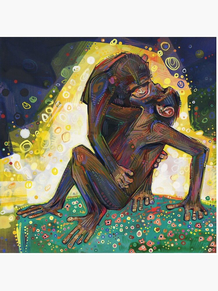 Bonobos painting - 2012 by gwennpaints