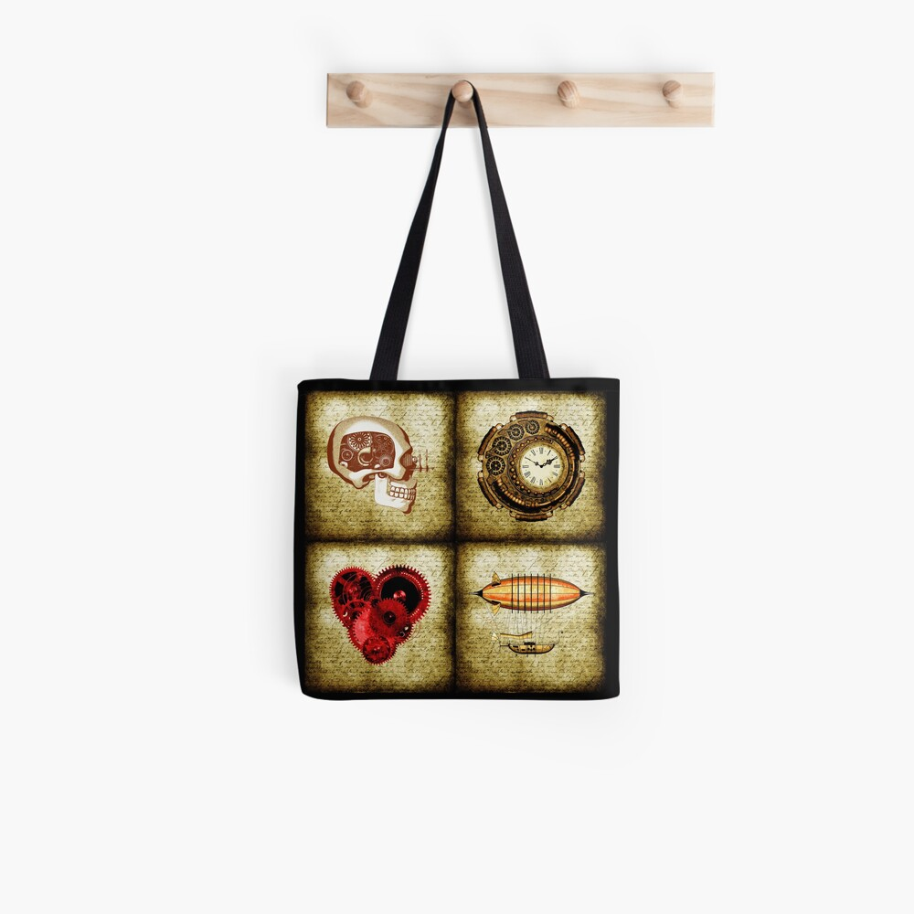Vintage Steampunk Tote Bag