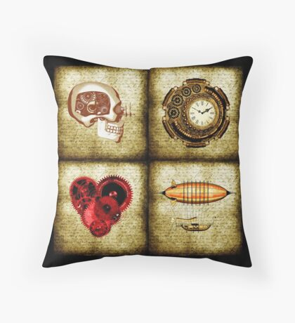 Vintage Steampunk Floor Pillow