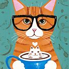 Ginger Kitty Catppuccino by Ryan Conners