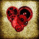 Vintage Steampunk Heart by Steve Crompton