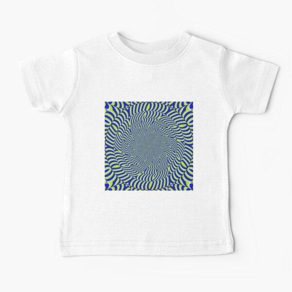 Optical #Art: Moving #Pattern #Illusion - #OpArt  Baby T-Shirt