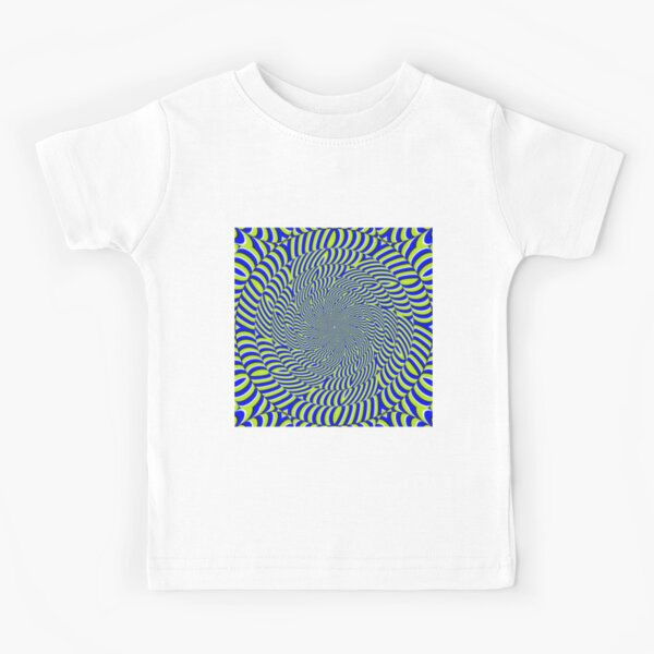Optical #Art: Moving #Pattern #Illusion - #OpArt  Kids T-Shirt
