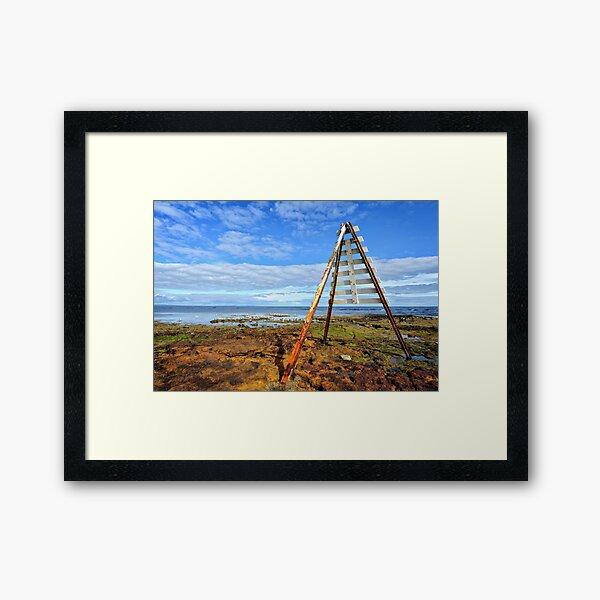 Navigational Marker - Rickett's Point Framed Art Print