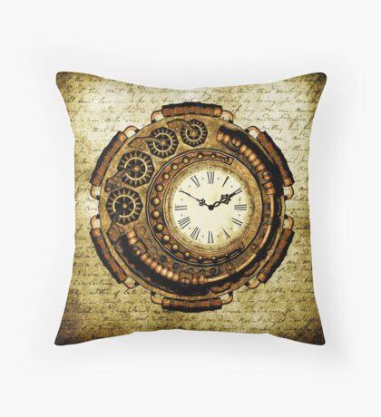 Steampunk Time Machine Throw Pillow