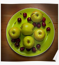 Apples and Cherries Poster