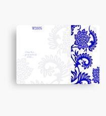 Invite Design Canvas Print