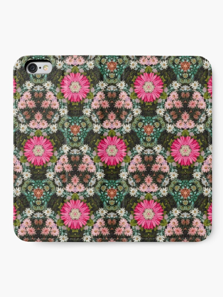 Alternate view of Flower Patch Photo Kaleidoscope Pattern iPhone Wallet