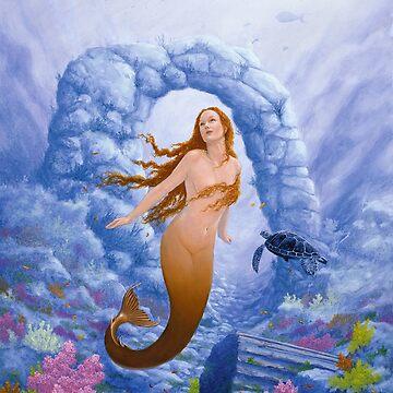Where Mermaids play by johnartist
