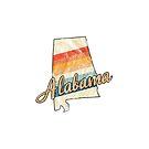 Alabama State | Bunter Retro Entwurf der 70er Jahre von PraiseQuotes