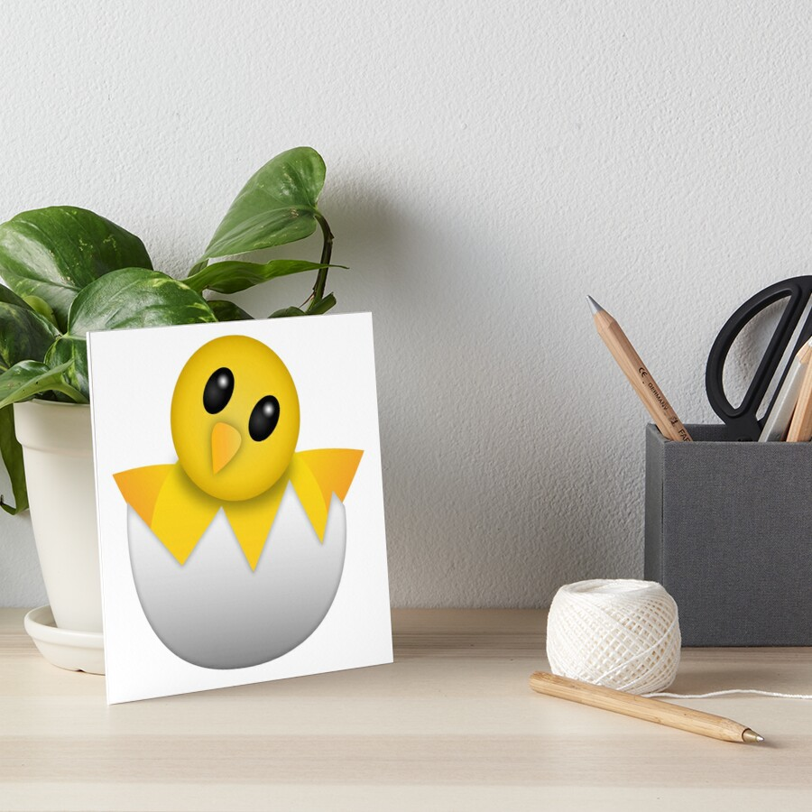 Brütendes Babyküken Emoji Galeriedruck