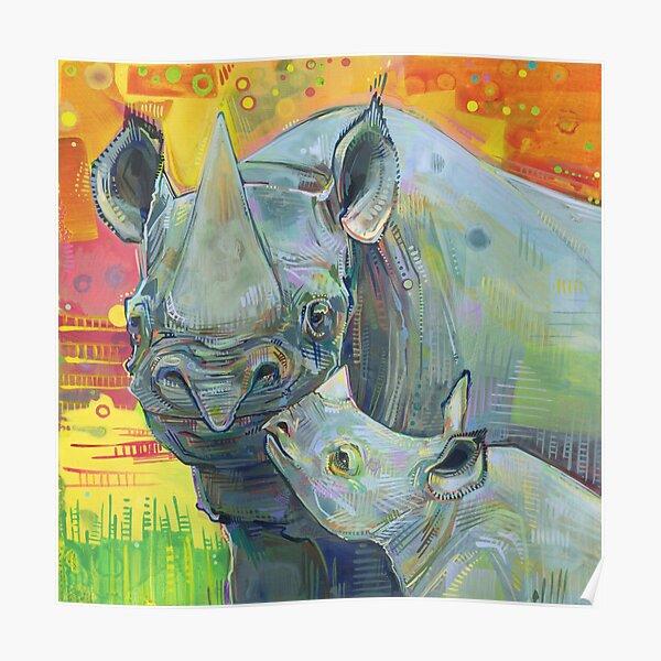 Rhinoceros Painting - 2012 Poster